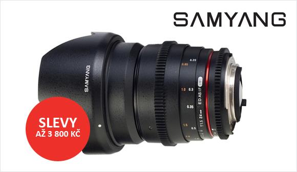 Výprodej objektivů Samyang