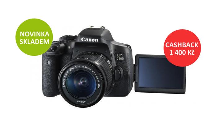 Novinka Canon EOS 750D je již skladem