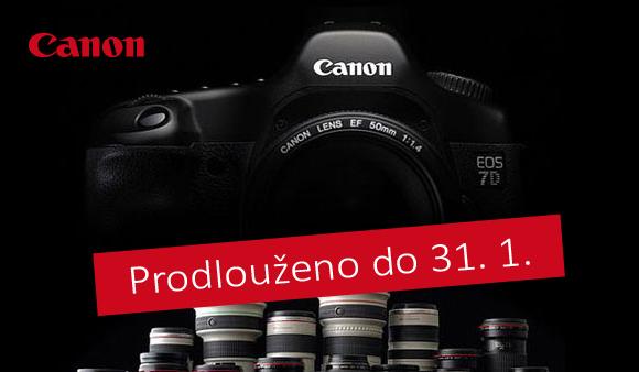 Prodlužujeme zpětné slevy Canon EOS 7D s objektivy