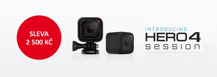 Tip na dárek - GoPro HD HERO4 Session zlevněno o 2 500 Kč