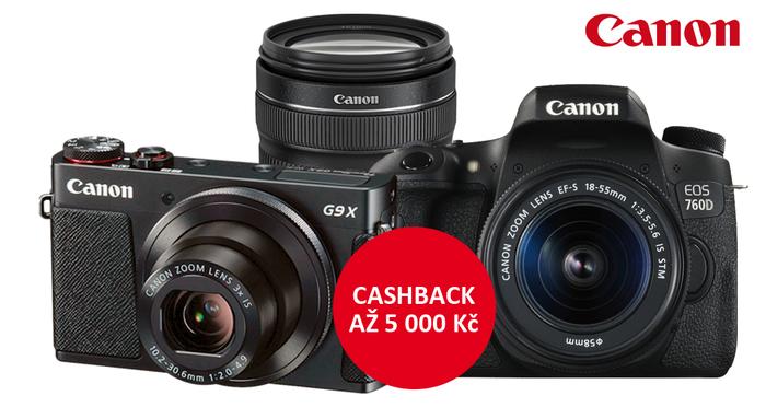 Ušetřete až 5 000 Kč se zimním Cashbackem Canon