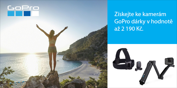 Pořiďte si vybrané kamery GoPro a získáte zdarma příslušenství v hodnotě až 2 190 Kč