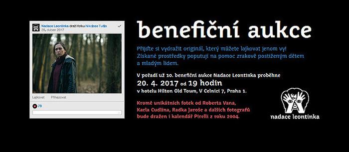 Špička české fotografie věnuje svá díla aukci Nadace Leontinka