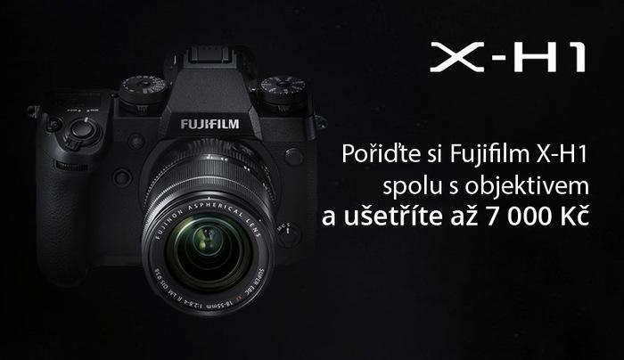 Pořiďte si Fujifilm X-H1 spolu s objektivem a ušetříte až 7 000 Kč