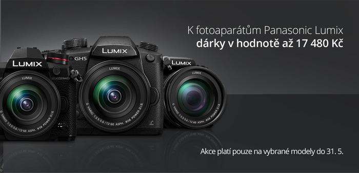 Využijte jedinečné akce k fotoaparátům Panasonic a získejte objektiv a bateriový grip jako dárek!