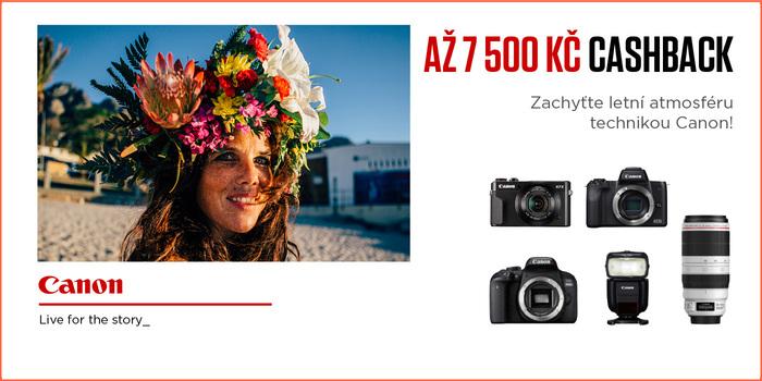 Získejte nazpět až 7 500 Kč s letním cashbackem Canon