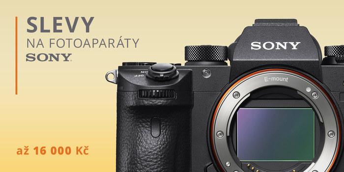 Zlevnili jsme fotoaparáty Sony až o 16 000 Kč!