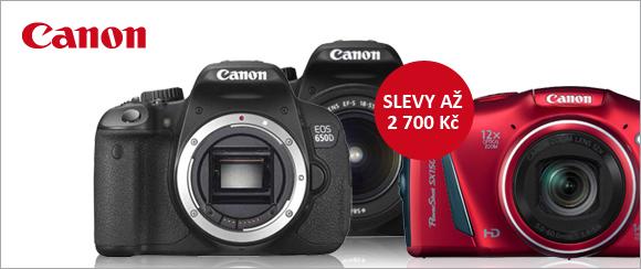 Fotoaparáty Canon nyní za výprodejové ceny