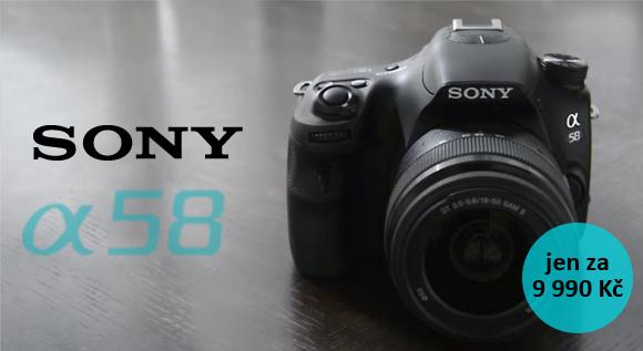 Sony Alpha A58 - nejlevnější zrcadlovka s Full HD