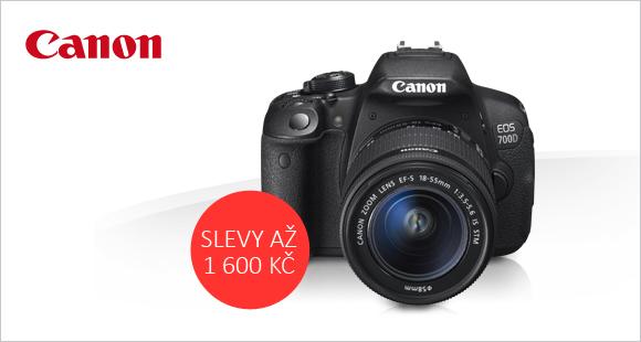 Fotoaparáty Canon se slevou až 1600 Kč