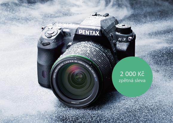Cashback Pentax K-3 a sleva 2 100 Kč na Pentax K-S1 + 18-55mm černý