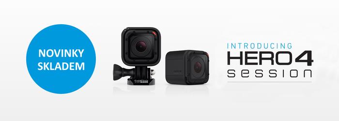 Naskladnili jsme novinky GoPro HD HERO4 Session a HERO+ LCD