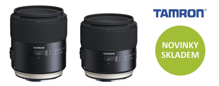 Novinky Tamron SP 35mm f1,8 a 45mm f1,8 VC USD jsou již skladem