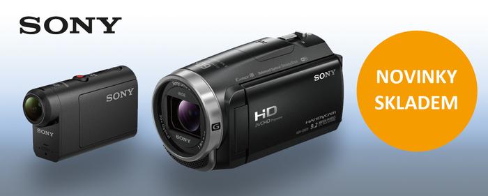 Naskladnili jsme nové videokamery Sony HDR-CX625 a CX450