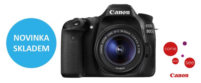 Nový Canon EOS 80D je ode dneška skladem