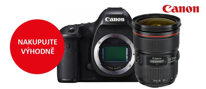 Nakupte objektivy a fotoaparáty Canon za stávající ceny