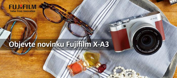 Představujeme fotoaparát Fujifilm X-A3