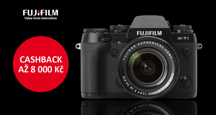 Ušetřete až 8 000 Kč při nákupu Fujifilm X-T1 s akcí Cashback