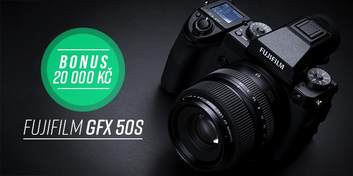 Získejte bonus 20 000 Kč k nákupu Fujifilm GFX 50S na protiúčet