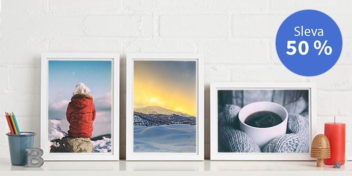 Sleva 50 % na tisk fotografií a fotoobrazů řady Fine Art Aquarelle