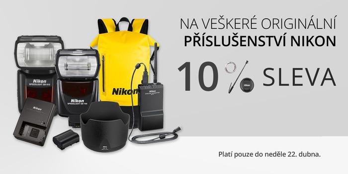 Sleva 10 % na veškeré originální příslušenství Nikon, pouze do 22. 4.!