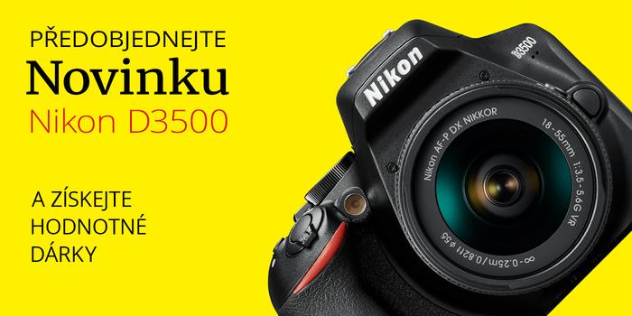Získejte hodnotné dárky k předobjednávce Nikon D3500