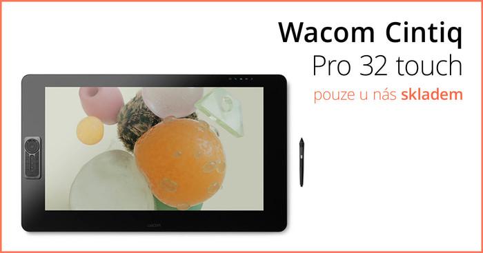 Nový nabušený Wacom Cintiq Pro 32 touch exkluzivně pouze u nás!