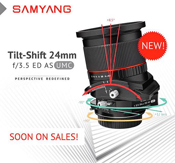 Samyang T-S 24mm f/3,5 ED AS UMC již příští měsíc v prodeji