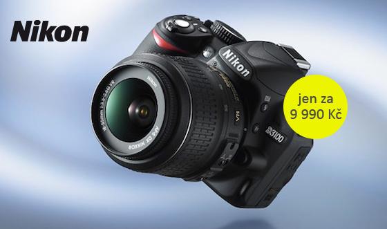 Nikon D3100 nyní za 9 990 Kč