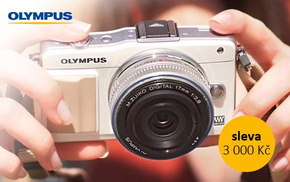 Fotoaparáty Olympus E-PM2 a další kompakty se slevou až 3 000 Kč