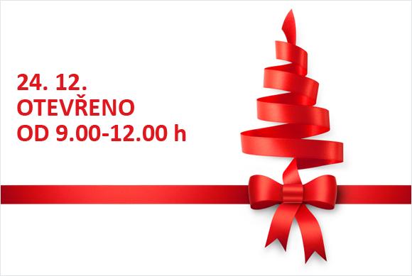 Přijďte (si) k nám vybrat dárek. Máme otevřeno do 24. 12. do 12 hodin