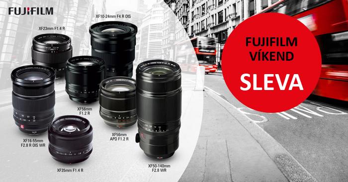 Začínají víkendové slevy s Fujifilm, ceny platí jen do pondělí.