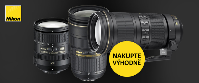Nakupte objektivy Nikon ještě za stávající ceny