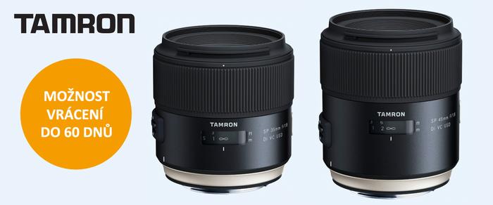 Přesvědčte se o kvalitě objektivů Tamron 35mm a 45mm f1,8  během 60 dnů