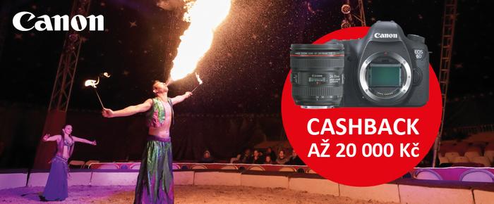 Začíná Cashback Canon na zrcadlovky a objektivy - získejte zpět až 20 000 Kč!