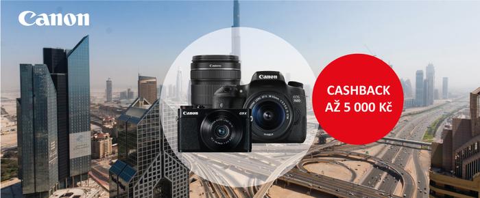 Je tu letní cashback Canon, získejte zpět až 5 000 Kč