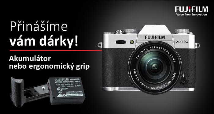 Získejte grip nebo akumulátor zdarma k vybraným fotoaparátům Fujifilm