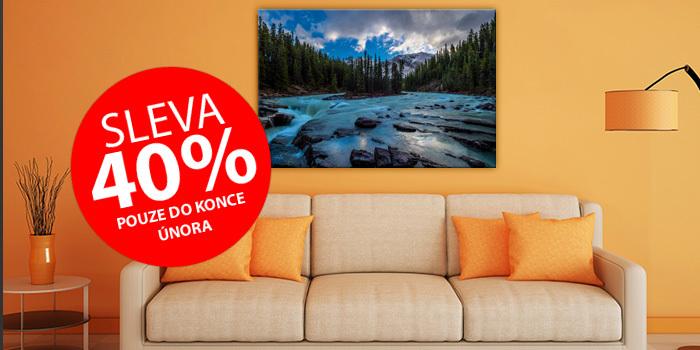 40% slevy fotoobrazů na plátno z kolekce Galerie Wrap PRO