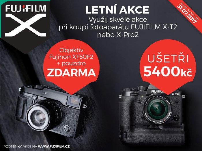 Fujifilm X-T2 a X-Pro2: sleva 5 400 nebo objektiv a pouzdro zdarma