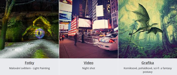 Light painting, night shot a pohádkové postavy. To jsou témata listopadové soutěže.