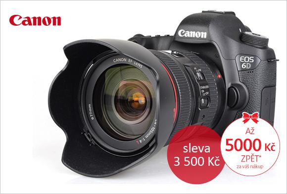 Canon EOS 6D koupíte až o 3 500 Kč levněji, navíc Cashback až 5 000 Kč