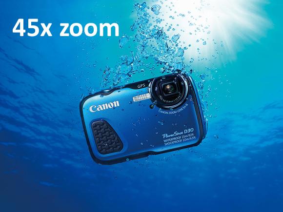 Canon patentoval objektiv se 45x zoomem pro podvodní fotoaparáty