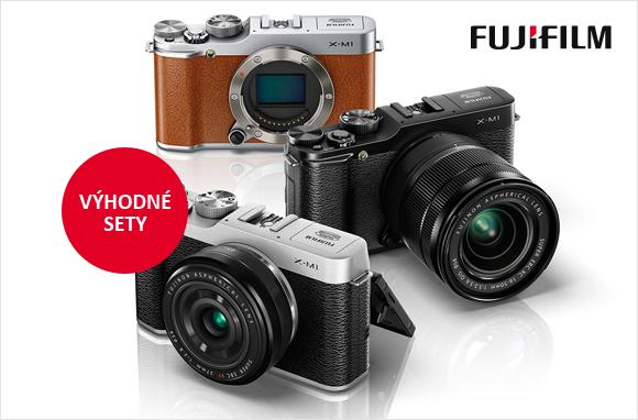 Fujifilm X-M1 a X-E1 v kitech s pevnými objektivy za jedinečnou cenu