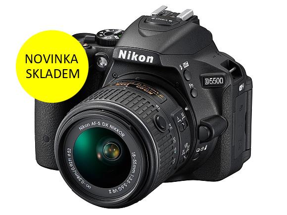 NOVÝ NIKON D5500 MÁME SKLADEM