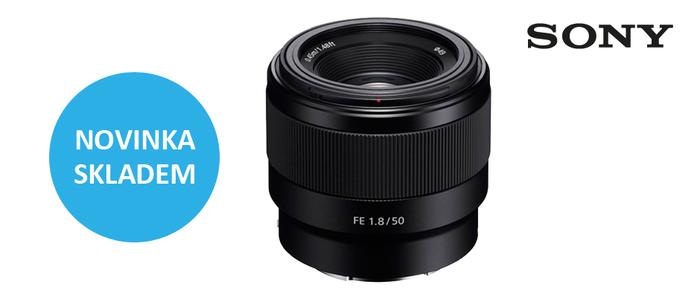 Novinka Sony FE 50mm f/1,8 je ode dneška skladem