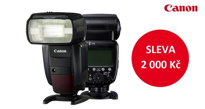 Sleva 2000 Kč na blesk Canon Speedlite 600 EX-RT