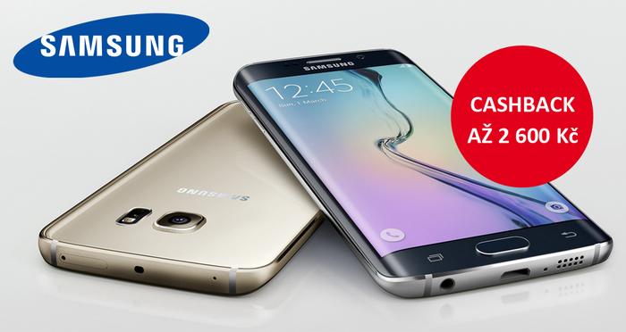 Ušetřete až 2 600 Kč s Cashback Samsung na fotomobily Galaxy S7, A5 a A3