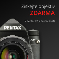 K digitálním zrcadlovkám Pentax KP a K-70 dostanete objektiv jako dárek