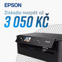 Získejte zpět až 3 500 Kč s cashback Epson