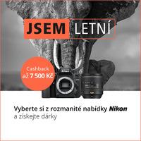 Letní cashback Nikon přichází se skvělými nabídkami a dárky k vybraným zrcadlovkám